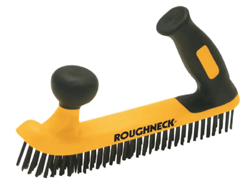 Roughneck 52052 Soft Grip Two Handed Wire Brush 5 Row 250mm / 10""